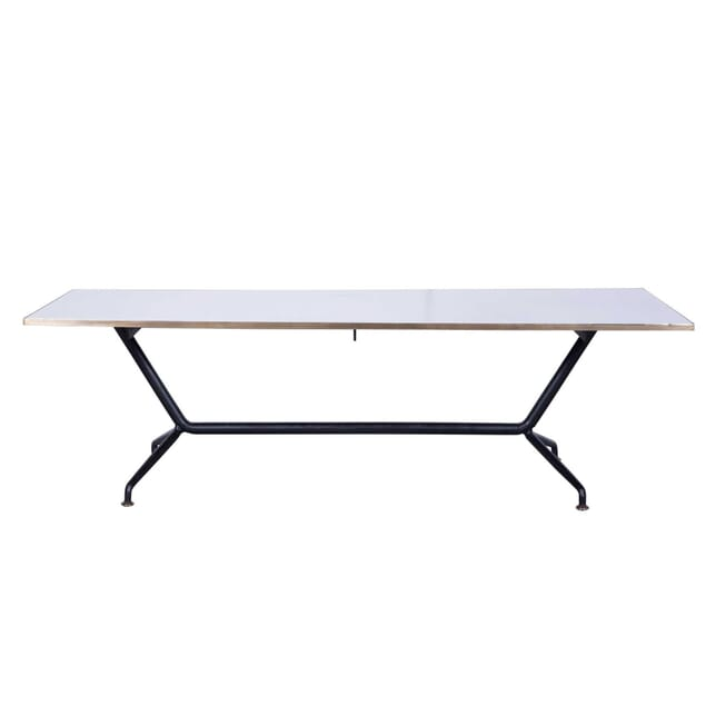 Mid Century Modern Brass Edged Coffee Table CT5859212
