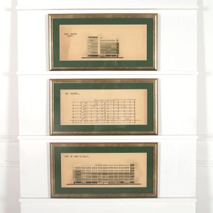 Set of Three Architectural Drawings WD3062391