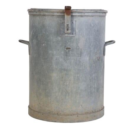 Large English Zinc Flour Bin circa 1940 DA449766