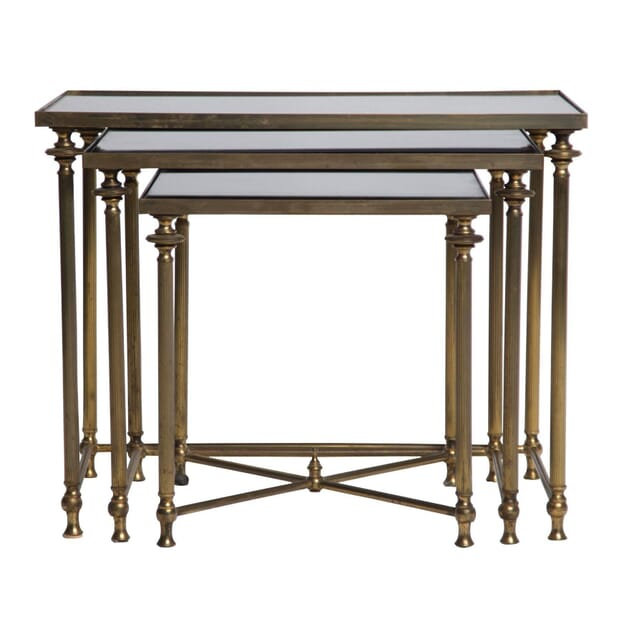 Nest of French Brass Tables TS4555027