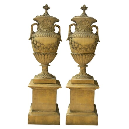 Pair of Classical Stone Composition Vases GA427446