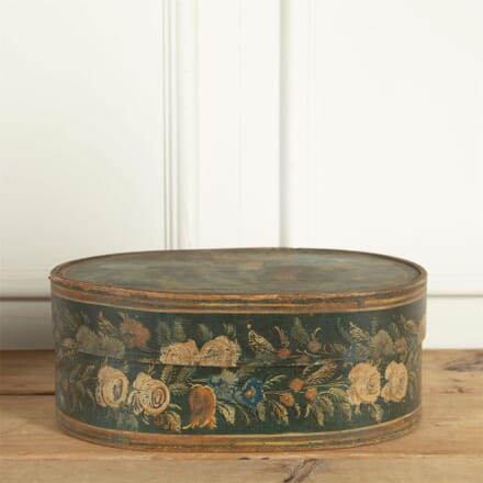 Swedish Folk Art Painted Bentwood Box DA9061308
