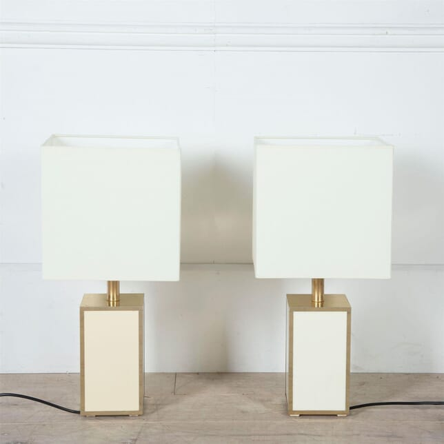 Gilded Metal and Acrylic Table Lamps LT3061119