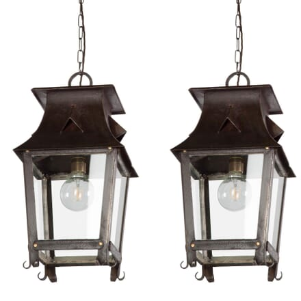 Pair of 1930s Pagoda Lanterns LL219470