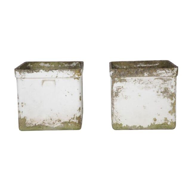 Pair of Painted Square Planters GA9057156