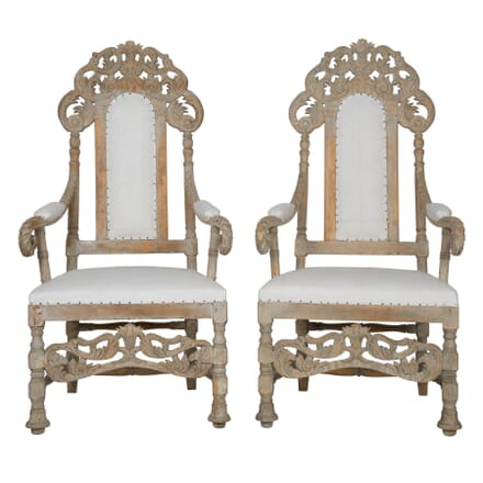 Pair 19th Century Swedish Armchairs CH113085