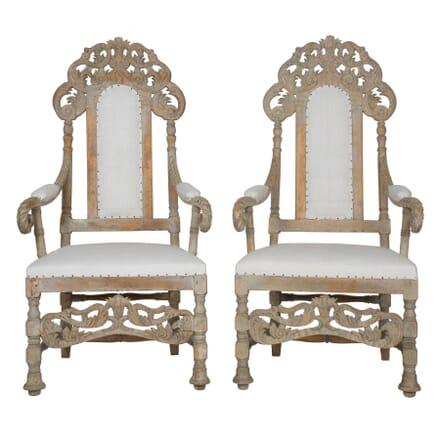 Pair 19th Century Swedish Armchairs CH113085