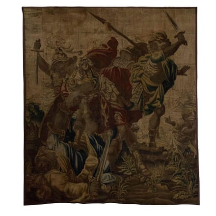 17th Century Flemish Battle Scene Fragment WD295190