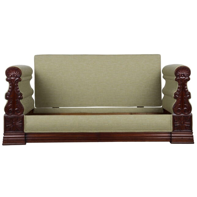 Carved Mahogany Banquette c.1845 SB172045