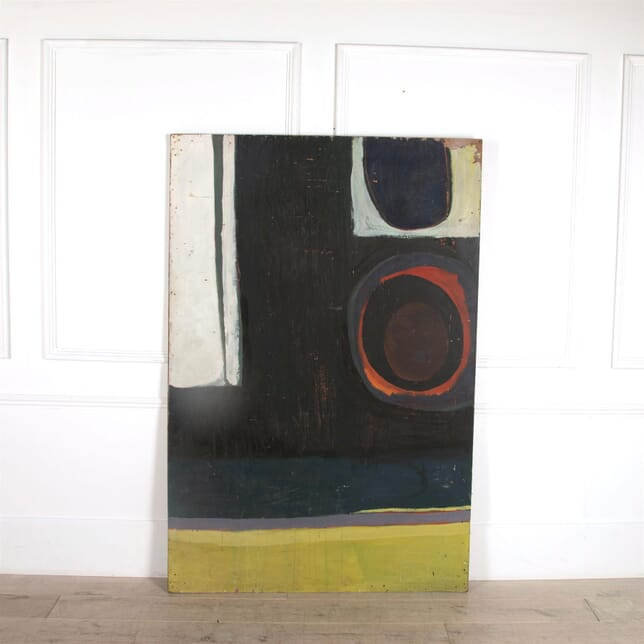 1960s Large Abstract Oil on Board WD3061590