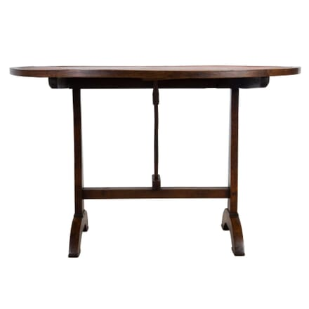 19th Century French Vineyard Table With Leather Top GA1554893