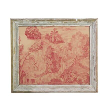 Framed Toile De Jouy Fragment WD9012389