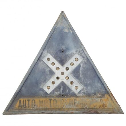 20th Century French Road Sign DA012201