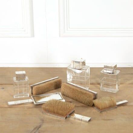 Art Deco French Silver Dressing Table Set DA607000