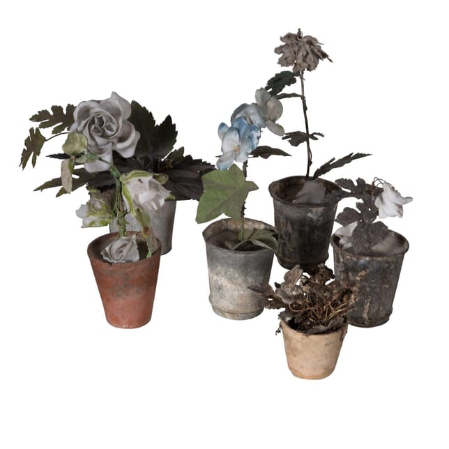 Group of Tole Flowers in Pots DA5558796