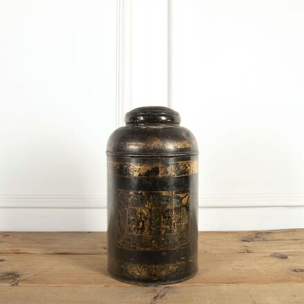 19th Century Toleware Tea Tin DA9061301
