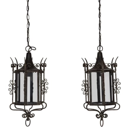 Pair of Iron Lanterns LL138702