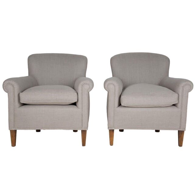 Pair of English Upholstered Armchairs CH175103