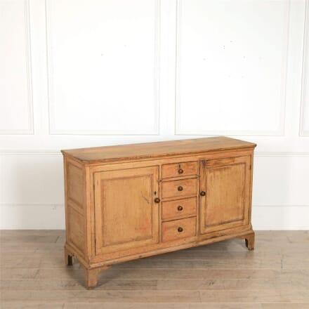 George III Original Painted Pine Dresser Base BU97258