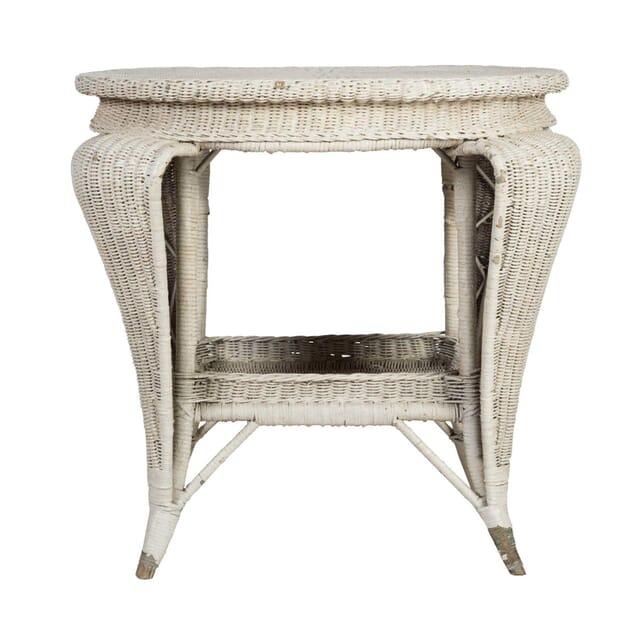 White Wicker Garden Table GA2012480