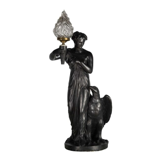Regency Ebonised Plaster Figure DA0359131