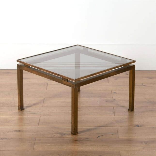 Steel and Brass Side Table by Guy Lefevre for Maison Jansen CO5762096