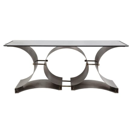 Steel and Glass Coffee Table by Francois Monnet CT308939