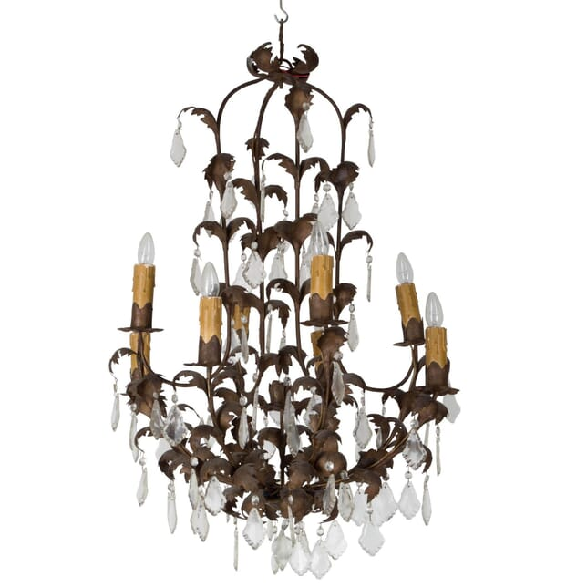 Large Tole Cage Frame Chandelier LC174973