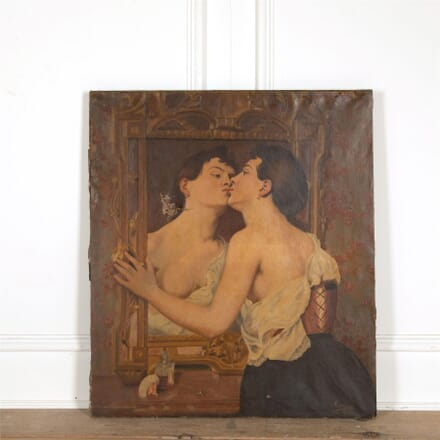 Large Signed Oil On Canvas WD157694