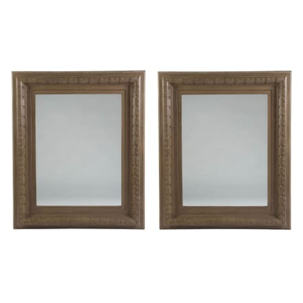 Pair of Large Architectural Wooden Framed Mirrors MI3010896