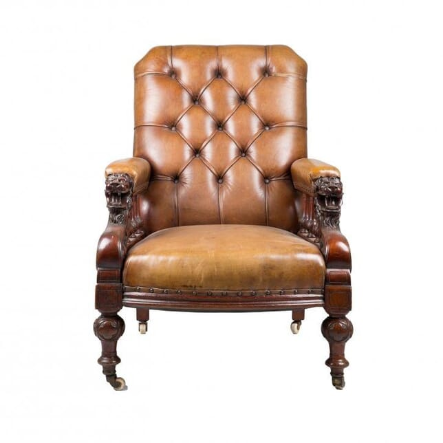 French Library Chair c.1860 CH171892