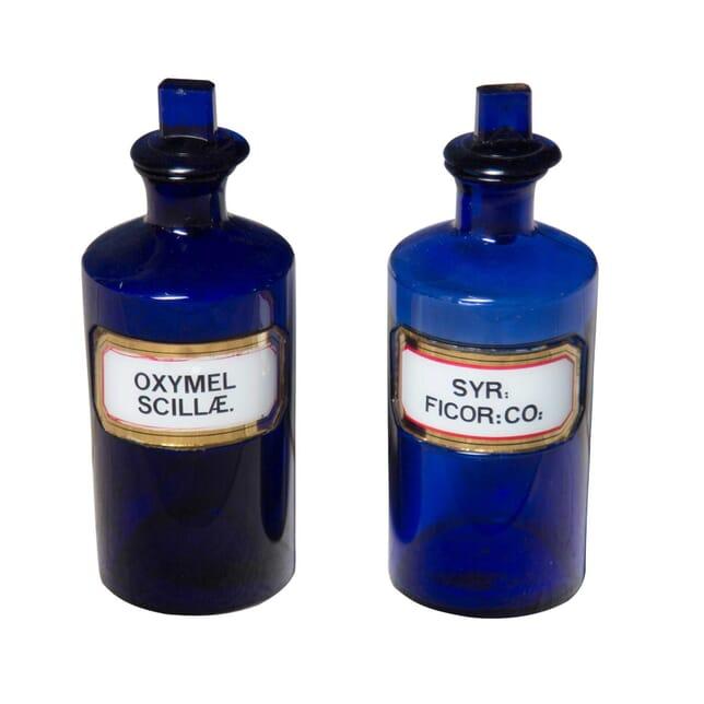 Pair of Bristol Chemist Bottles DA3555710