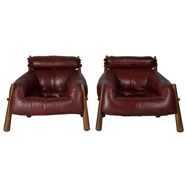 Brazilian Leather Armchairs CH996198