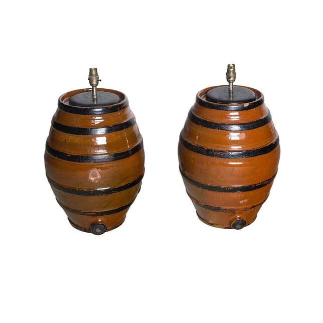 Pair of Barrel Lamps LT1561030
