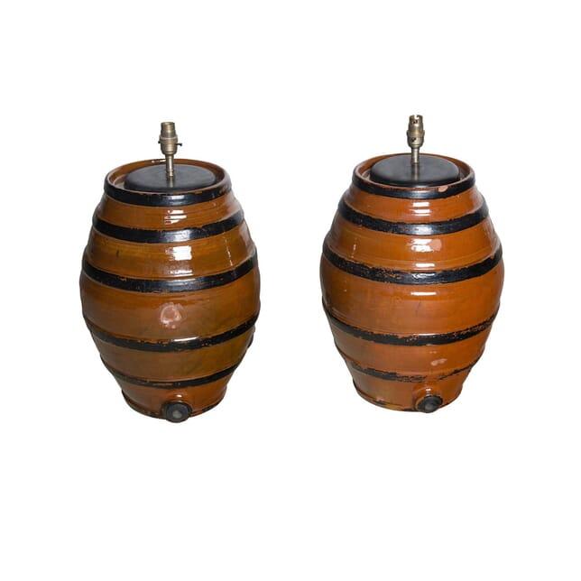 Pair of Barrel Lamps LT1561030