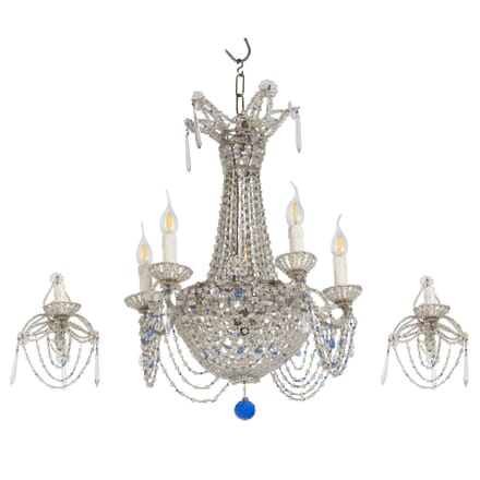 Italian Chandelier with Two Wall Sconces LC2853964