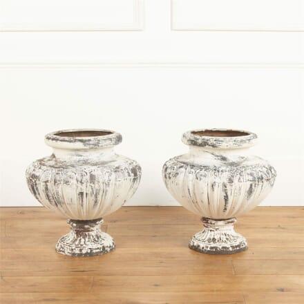 Pair of Cast Iron Urns GA737096