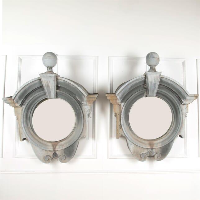 19th Century Zinc Mirrored Architectural Frames MI6061637
