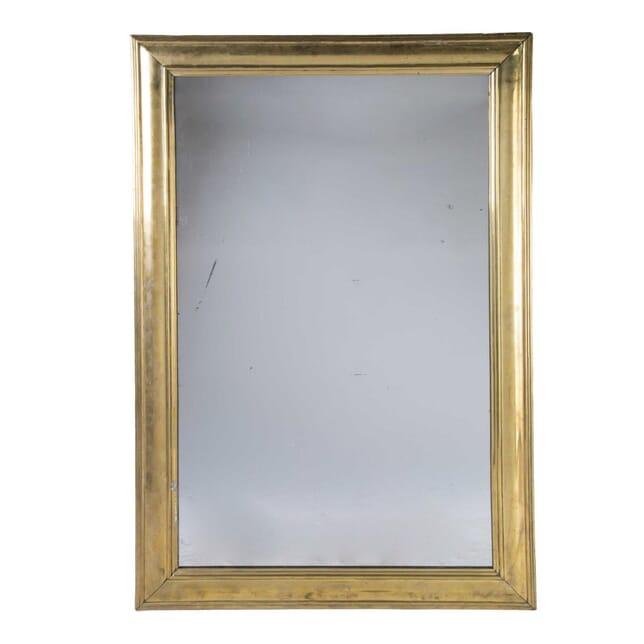 Large Brass Bistro Mirror MI5558070