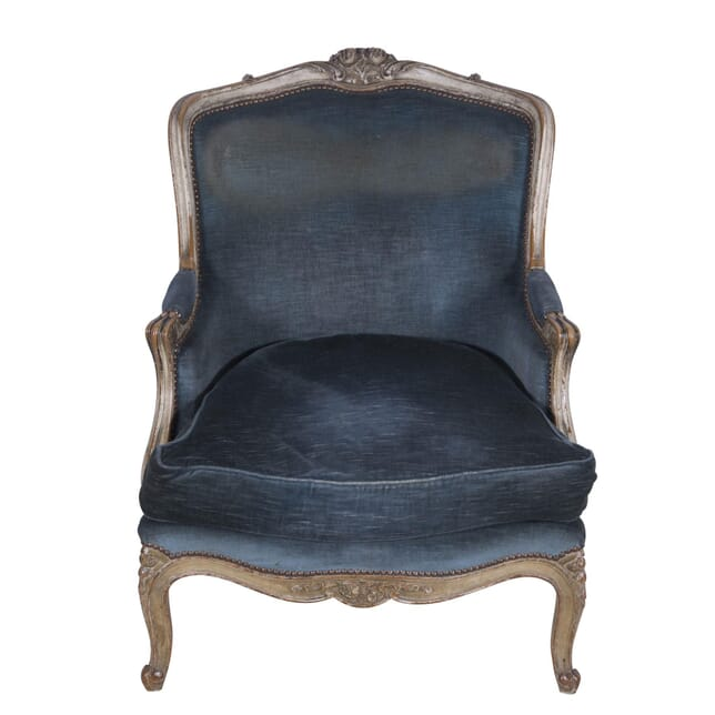 French Carved and Painted Walnut Armchair CH7260181
