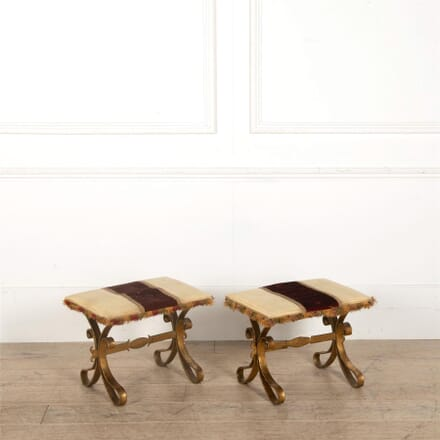 Pair Of Vintage Spanish Stools ST157035