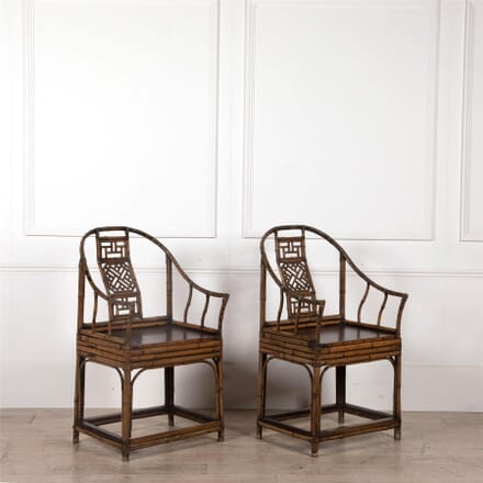 A Pair of Chinese Export Bamboo Armchairs CH2562580