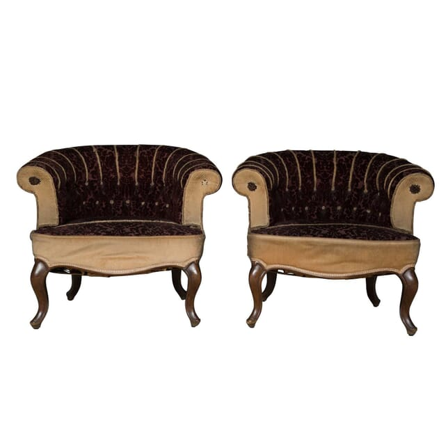 Pair of 19th Century Tub Chairs CH4755777