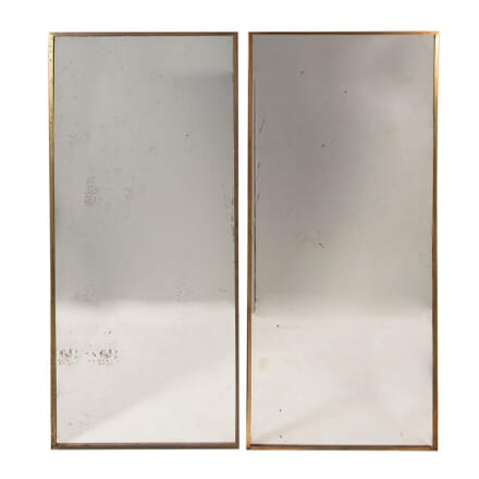 Pair of French Brass Framed Mirrors MI4558941