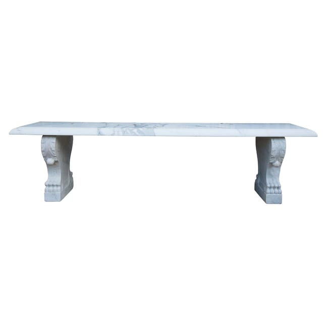 White Marble Garden Bench GA3354302