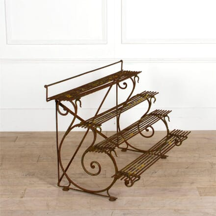 Tiered French 19th Century Arras Cast Iron Plant Stand GA287386