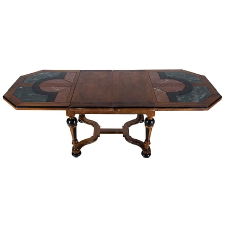 Walnut and Marble Dining Table TC177562
