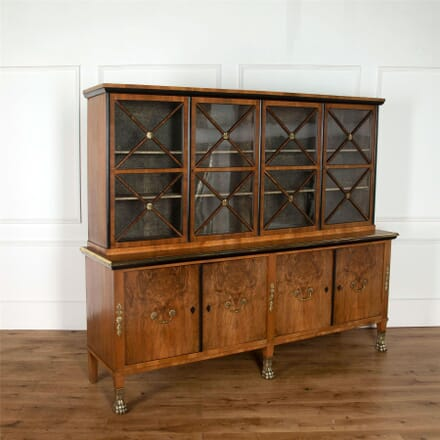 20th Century French Walnut Display Cabinet CU037621