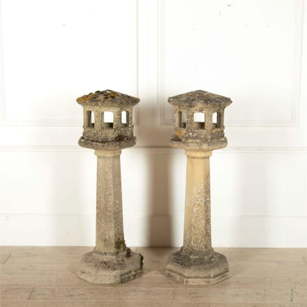 Pair of Garden Pedestal Lanterns LL0562585