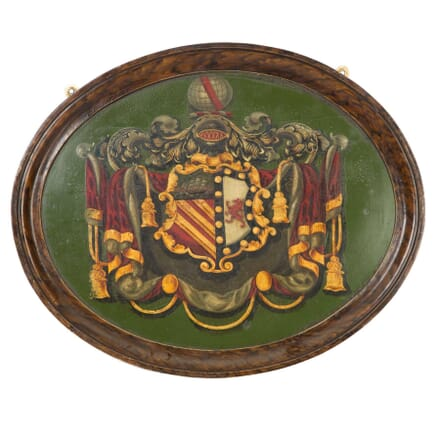 Oil on Board Framed Armorial DA5558017
